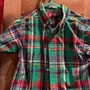 Little boys shirt sleeve dress shirt